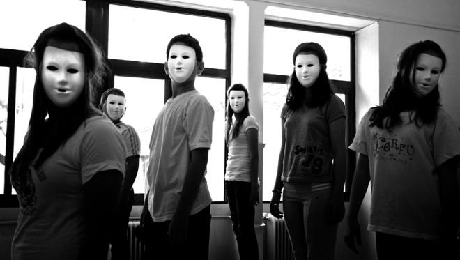 convivencia de máscaras
